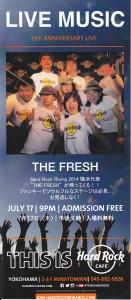 THE FRESH LIVE Hard Rock Cafe 横浜